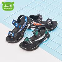 木木屋童鞋2021新款夏季防滑男童凉鞋软底男款中大童漏趾沙滩鞋