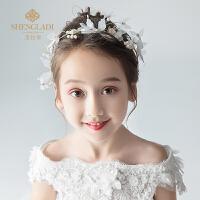 儿童头饰花环发夹公主头花头箍发带百搭女孩演出礼服发饰