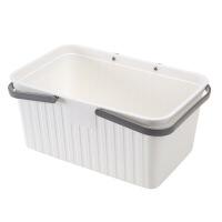 手提洗澡篮子放洗漱用品的浴筐可爱洗浴沐浴蓝浴室收纳框塑料 白色