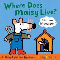 Where Does Maisy Live?(Boardbook)小鼠波波住哪里?(卡板书)ISBN978076364