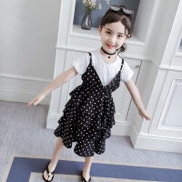 【新品特惠】女童套装夏装2019新款女孩童装裙子网红公主裙洋气儿童时髦两件套