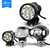 摩托车LED射灯改装USB充电辅助大灯电动车外置防水灯泡