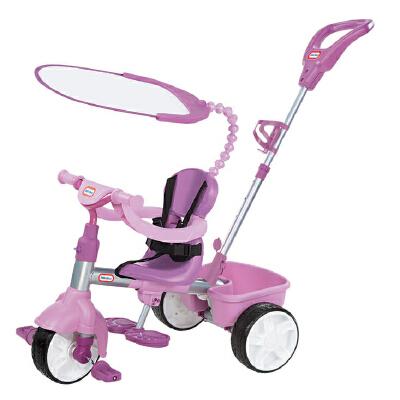 [当当自营]Little Tikes 小泰克 3合1推行三轮车 紫色 627361 【当当自营】美国品牌小泰克专注儿童玩具40多年,让在小朋友在快乐中成长