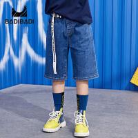 【品类日3件2折:55】巴拉巴拉旗下2019夏季新款男童中大童时尚潮流牛仔裤儿童中裤