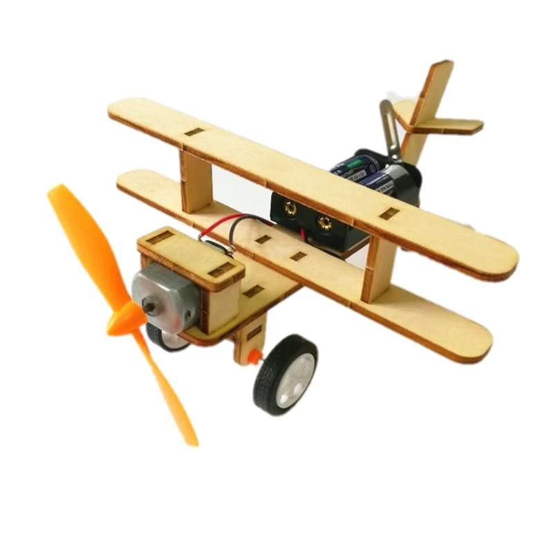 科技小制作小发 DIY材料包 学生科教电动玩具 科学实验课作业材料 电动滑行飞机 材料包(电池自备)