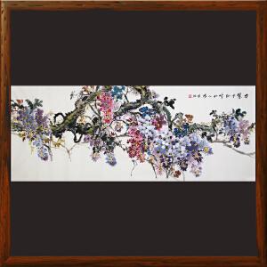 1.8米紫藤花《万紫千红 时和人兴》朱增旭R4938 一级美术师