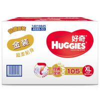 [当当自营]Huggies好奇 金装纸尿裤 加大号XL105片(适合12-16公斤)箱装 尿不湿(利来国际ag手机版电话:010-5