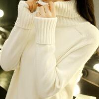 高领毛衣女士秋冬装上衣2019宽松套头内搭长袖针织打底衫外穿