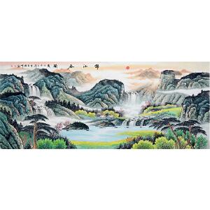 中国美协会员,中国书协会员,龙云书画院院长侯桂峰(锦江春韵2)19