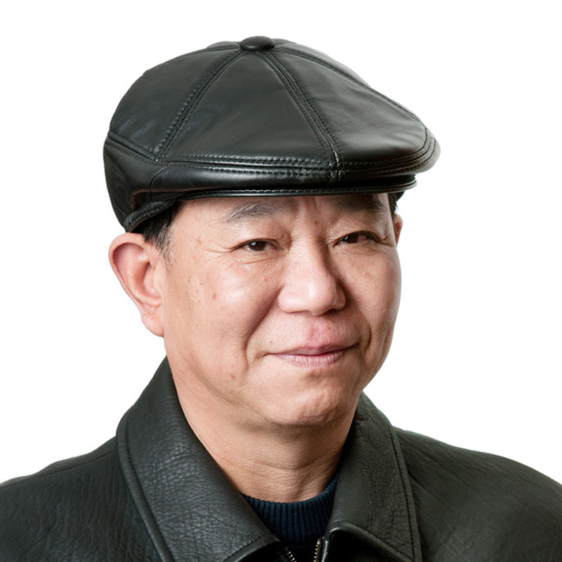 中老年帽子男士帽子冬帽冬天老人帽子鸭舌帽棉帽前进帽
