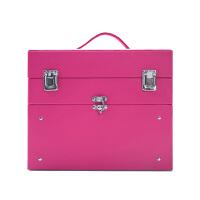 美甲工具箱手提抽屉美容美妆纹眉化妆箱子多层大号纹绣工具箱