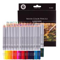 得力(deli)水溶性彩色铅笔 水溶彩铅 附赠毛笔24色36 色48色纸盒