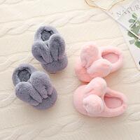 宝宝棉拖鞋冬季1-3岁fang滑软底儿童拖鞋男女童室内可爱保暖亲子