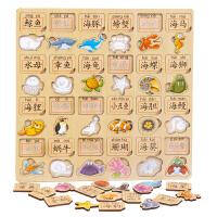 字学习积木拼图拼板儿童玩具 3-4-5-6周岁男孩女孩宝宝早教语文