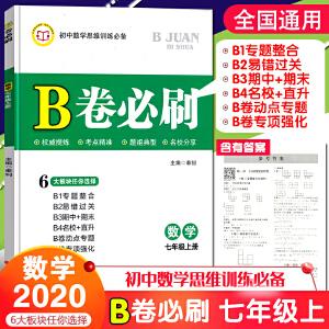 2020年新版 B卷必刷 七年级上册数学 (含答案)
