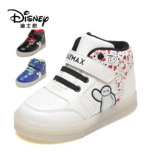 【达芙妮集团】迪士尼 童鞋男童加绒运动鞋冬女童二棉休闲鞋儿童鞋