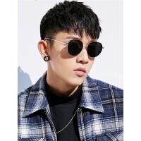 韩版个性复古潮流缕空圆形墨镜2019新款男士太阳眼镜