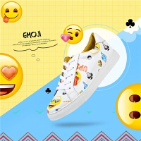 Safiya X emoji合作款春季春秋季新款牛皮休闲小白鞋女SF81112148