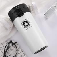 304不锈钢咖啡杯便携车载水杯广告促销杯双层真空保温杯礼品