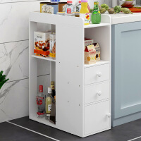 【限时直降3折】厨房置物架家用简约现代组合收纳柜简易储物柜落地式调料架