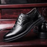 承发 商务休闲皮鞋子男士正装头层牛皮工作系带舒适耐磨皮鞋 30136