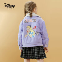 【2件4折券后价:174.4元】迪士尼童装女童牛仔棉服儿童外套春秋宝宝早秋上衣