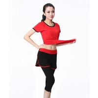 瑜伽服女套装专业健身服短袖运动跑步服装修身显瘦多色大码夏季新款