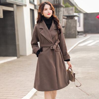 【仅限今日,下单立减100】 毛呢大衣女中长款学生韩版秋冬装小个子森系过膝双面呢子外套