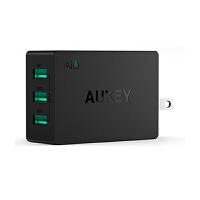 【包邮】Aukey 多口USB充电头 2.4A 手机平板充电宝通用三口充电器插头 安卓充电器 充电器头