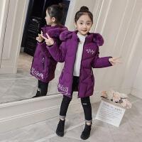 女学生棉袄韩版冬装中长款加厚棉衣中大女孩加棉时尚外套