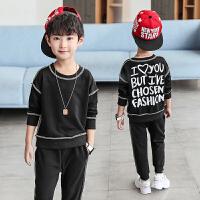 童装男童运动套装2018新款秋装儿童秋季休闲中大童男孩两件套潮衣
