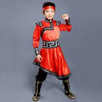【新品特惠】六一儿童演出服蒙古族舞蹈服装少数民族衣服男童蒙族幼儿园表演服