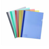 A4报告夹 Q311/310/314磨砂/透明大抽杆 商务文件夹 简历资料夹 5个装 颜色随机