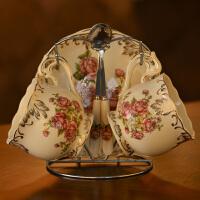 欧式咖啡杯套装英式茶杯茶具杯碟欧美陶瓷红茶杯下午茶杯子