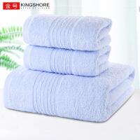 金号2毛巾浴1巾组合纯棉成人男女柔软吸水速干大号毛巾婴儿家用裹巾全棉A类