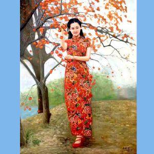 著名油画艺术家,福建油画协会常务理事曾新伟(事事如意)