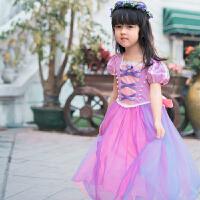 新款女童艾莎公主裙圣诞迪士尼苏菲亚演出服