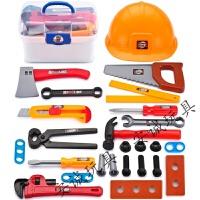 【精选优品】儿童过家家男孩仿真维修修理工具玩具手提箱工具箱套装巴布工程师 +工具帽