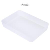 抽屉收纳盒分隔盒家用厨房餐具分格整理盒杂物分类储物格塑料