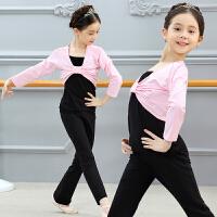 儿童舞蹈服装女童长袖秋冬季套装幼儿跳舞练功服少儿分体