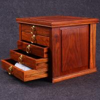 五层花梨木普洱茶盒茶饼盒子分茶盘收纳茶柜功夫茶具礼盒储茶盒 非洲黄花梨五层茶盒送檀木茶刀