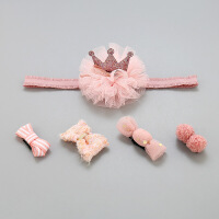 儿童发饰宝宝发夹套装婴儿发饰头饰公主皇冠儿童发夹不伤发汗毛夹