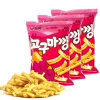 【包邮】韩国进口 农心香甜地瓜条薯片83g*3袋
