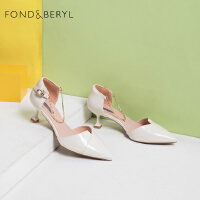Fondberyl/菲伯丽尔春季尖头细高跟浅口单鞋女鞋FB01114038