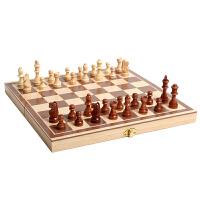 初学者儿童学生培训比赛用棋实木制国际象棋套装木质折叠棋盘