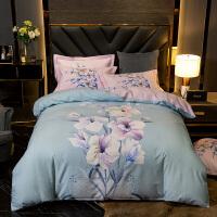 商场同款加厚全棉磨毛四件套棉床单被套1.8床上用品双人被罩4套件夏季