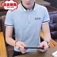 男士POLO衫2019夏季新款短袖t恤男韩版修身翻领体恤青年帅气潮牌