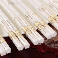 筷子家用骨瓷餐具欧式陶瓷筷子10双套装礼品纯手工可定制