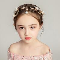 新款儿童头饰女孩发饰晚礼服配饰花环发箍额头链