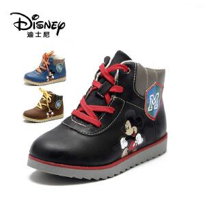 【达芙妮集团】迪士尼 女童靴子冬季儿童马丁靴小女孩韩版公主短靴童靴